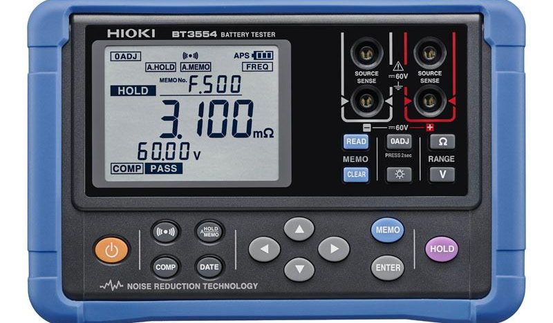 Battery tester from Hioki